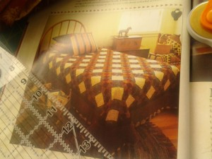The lattice appearance, as well as the color scheme drew Elizabeth to this choice