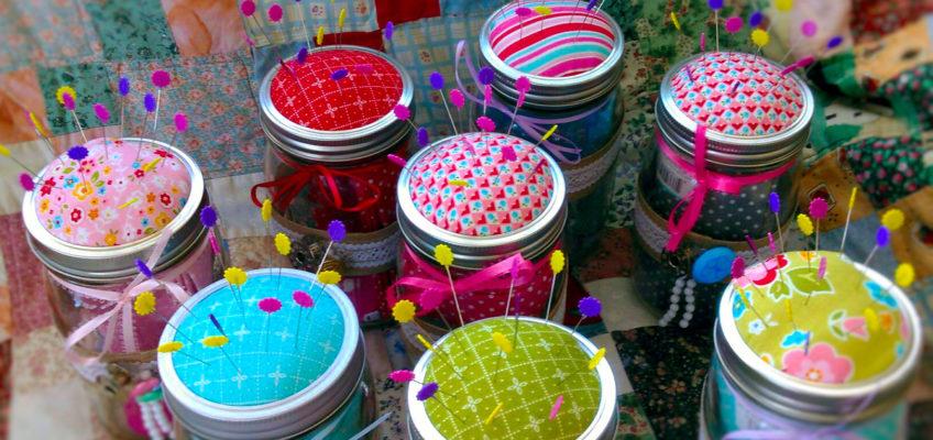 Mason Jar Pin Cushions